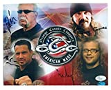 Orange County Choppers cast signed 8x10 signed by Paul Teutul Sr, Rusty Coones, Michael Teutul & Nick Mariconi JSA Authenticated
