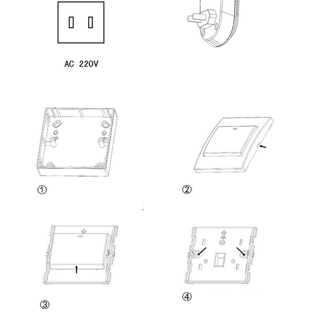 1 transmisor 3 receptores B Blesiya Timbre Inal/ámbrico Exterior de Accesorio de Puerta