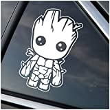 Baby Groot Guardians of the Galaxy - White Vinyl Decal