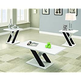 Coaster Furniture Modern 3 Piece Coffee Table Set