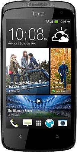bolsa del cinturón / funda para HTC Desire 500, negro + Auriculares   caja del teléfono cubierta protectora bolso - K-S-Trade (TM)