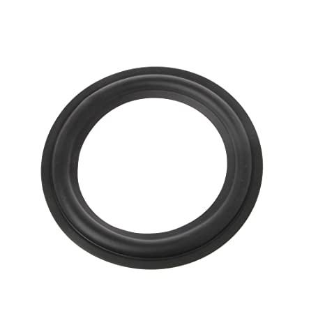 2pcs Durable Wide-Roll Speaker Foam Surround Speaker Repair Parts Red 6.5 Inch