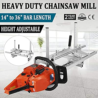 """Morocca Portable Chainsaw Mill 36"""" Inch Planking Milling 14"""" to 36"""" Guide Bar"""