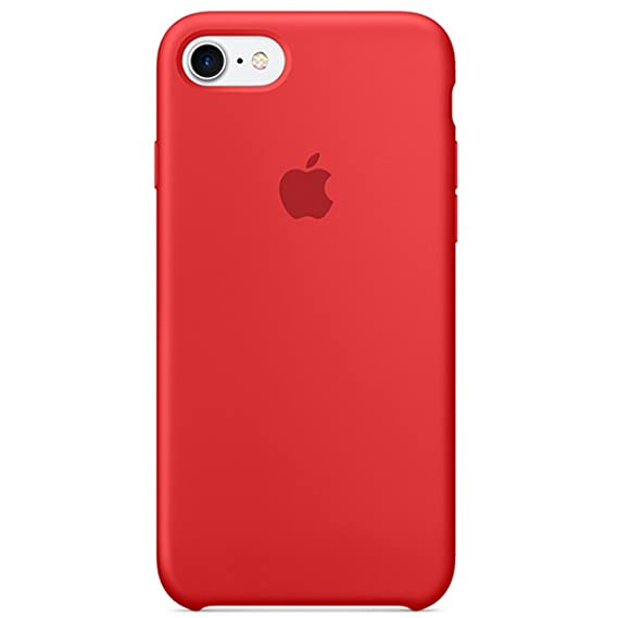 Dawsofl Soft Silicone Case Cover for Apple iPhone 8 (4.7inch) Boxed- Retail Packaging (Red)