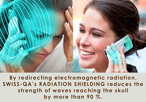 Price comparison product image Anti-Radiation Sticker from SWISS-QA - Absorbs and Transfers Electromagnetic Radiation Waves by using a Special Materials to Reduce Mobile Phone Radiation by 97% - with Warranty