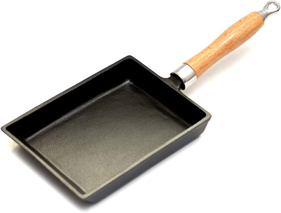 Cast Iron Skillet, Uncoated Nonstick, Cookware Heat Resistant Handle, Pan Skillet Cookware Indoor and Outdoor Use, Induction cooker Universal, Square, 2015cm