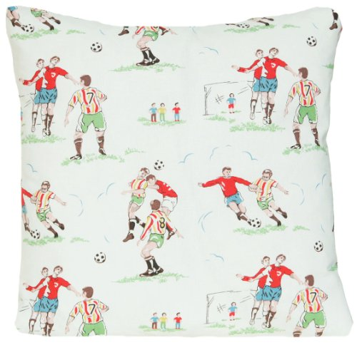 (Footballers Decorative Pillow Throw Case Cath Kidston Fabric Cream Cushion Cover)
