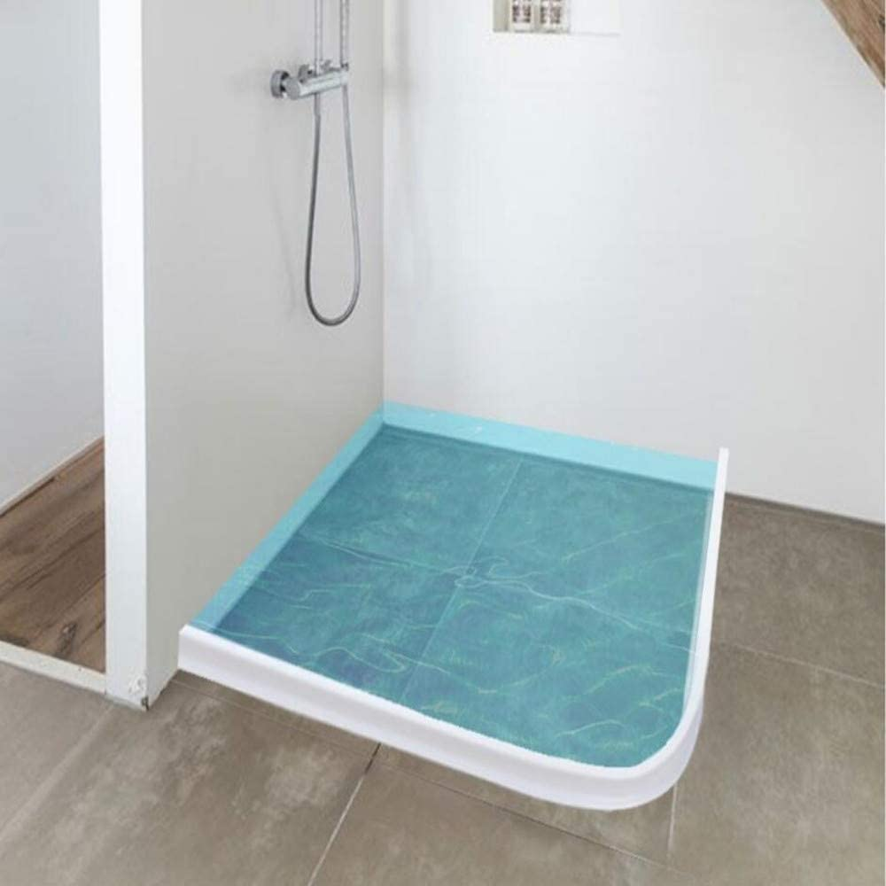Mampara de ducha suave de goma sellada, mampara de baño plegable ...