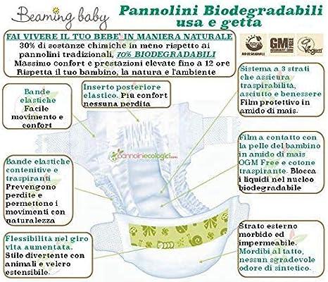 Beaming Baby Pañales Biodegradables MAXI PLUS (34) Tamaño 4 ...