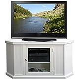 46 tv console - White 46-inch Corner TV Stand & Media Console Model#85285