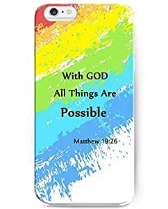 Diy iPhone 6 plus 5.5 inch iPhone Case for iPhone 6 plus(5.5 inch) - Matthew 19:28 With God All Things Are Possible