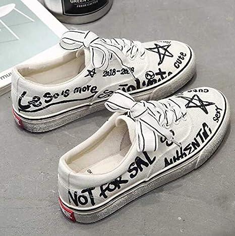 RONGXIE Nuevos Zapatos De Vulcanización con Suela Desgastada Informal De Moda Popular con Cordones Zapatillas De Plataforma Blancas Negras Colores Mezclados Zapatos De Lona Transpirables para Mujer: Amazon.es: Deportes y aire libre