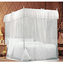 IFELES 4 Corners Bed Canopy Twin Full Queen King Mosquito Net (TWIN)
