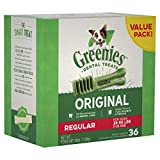 GREENIES Original Regular Size Dental Dog Treats, 36 oz. Pack (36 Treats), Makes a Great Holiday Dog Treat