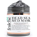 tighten Live Fraiche Organic Dead Sea Mud Mask Facial & Body Cleanser- 8.8oz -Fight breakouts acne blackheads & Reduce Pores/Lines/Wrinkles - pure & natural to tighten & tone see clearer brighter younger skin