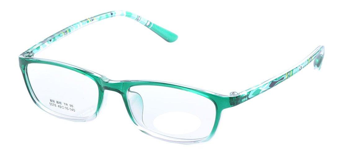 De Ding Boys Girls Eyeglasses Multicolored Kids Tr90 Frame (green)