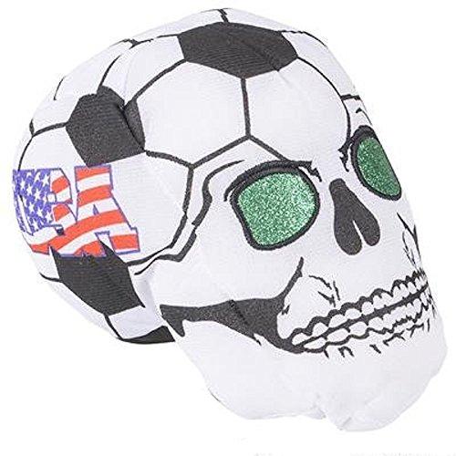 RIN001 12PC, 7'' USA SOCCER BALL SKULL HEADS by RIN001