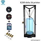 HE3D K280 High Precision Single Extruder Delta 3D DYI Printer Kit – Extra Large Print Volume (280x600), Heated Print Bed,