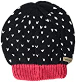 Columbia Big Girls Youth Powder Princess Hat, Black, Punch Pink, O/S