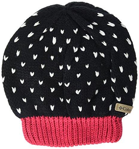 Kids Princess Pink Hat (Columbia Big Girls Youth Powder Princess Hat, Black, Punch Pink, O/S)