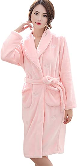 Icegrey Femmes Peignoir De Bain Peignoir Wrap De Nuit Pyjama