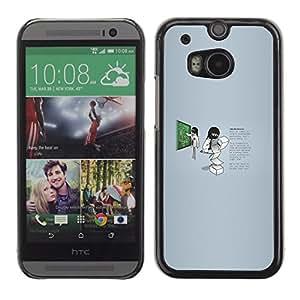 EJOY---Cubierta de la caja de protección la piel dura para el / HTC One M8 / --Profesor Trabajador