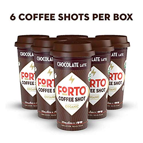 FORTO Coffee Shots - 200mg Caffeine, Sweetened Black, Ready-to-Drink on the go, High Energy Cold Brew Coffee - Fast Coffee Energy Boost, 6 Pack
