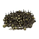 Sydien 200 Pcs Upholstery Nail Thumb Tack Push Pins Furniture Tacks Bronze Tone(16mmx11mm)