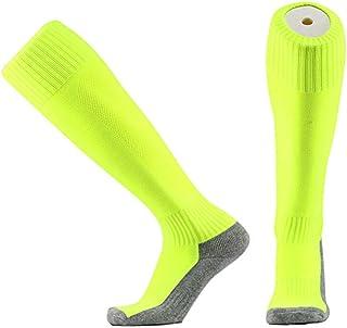 Wenquan,6 paia di calzini da calcio con fondo sportivo 6 paia di calzini da calcio con fondo sportivo(color:Arancio fluorescente size:Calze da calcio per adulti 39-44)