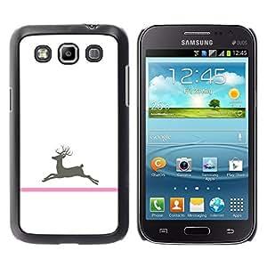 TopCaseStore / la caja del caucho duro de la cubierta de protección de la piel - Cancer Deer Minimalist White - Samsung Galaxy Win I8550 I8552 Grand Quattro