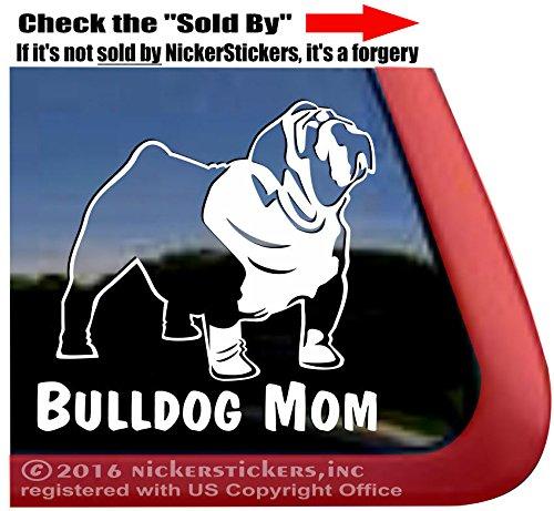 english bulldog vinyl car sticker - 8