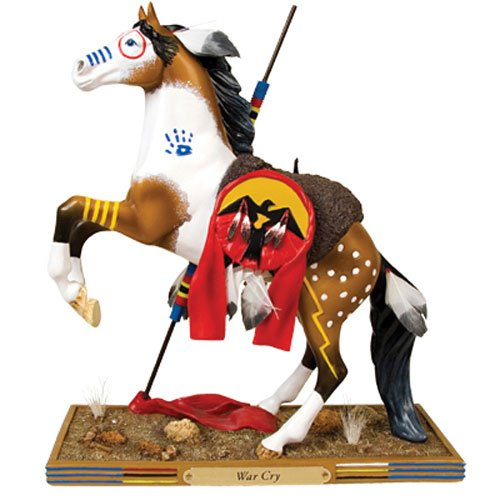 (Enesco Trail of Painted Ponies War Cry Pony Figurine 8-1/2-Inch)