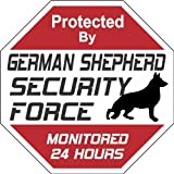 "German Shepherd Dog Yard Sign ""Security Force German Shepherd"""