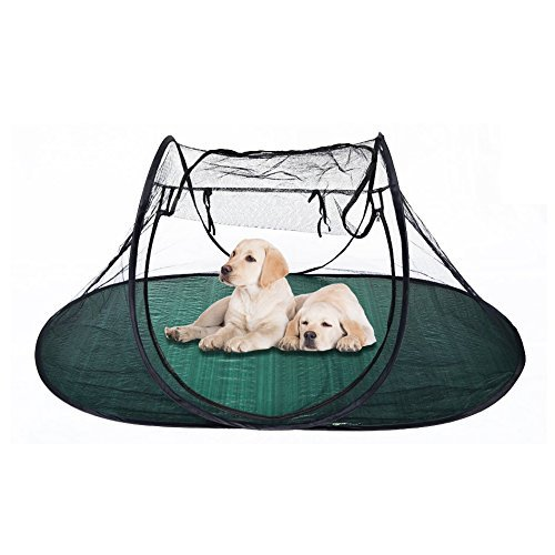 Pet Fun House Cat Dog Playpen Portable Exercise Tent with Carry Bag 189x90x78cm(74.4''x35.5''x31'') by BenefitUSA