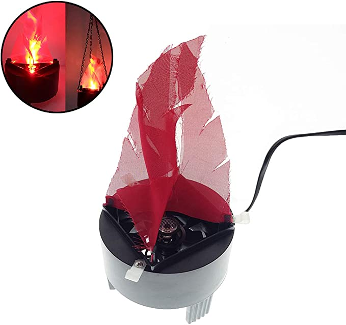 Portable Hanging Light 3D Flickering Fake Fire Simulation Flame Effect Light for Party Stage Night Clubs Mobile DJs Schools Back Yard Decor Lighting 3D Triangle Flame Hanging,1PCS