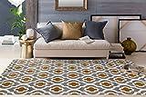 "Moroccan Trellis Pattern Soft Dark Gray-Yellow 7'10"" x 10'2″ Area Rug Review"