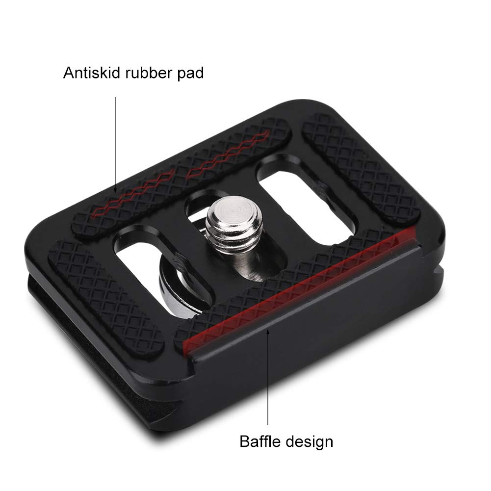 Quick Release Plate,Mini Portable Aluminium Alloy Quick Release Plate Camera Mount Tackle Photography Accessory,Camera Mount Accessory