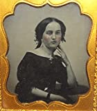 Ambrotype Photograph Rosey Cheeked Young Woman in Gutta Percha Photo Case