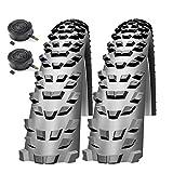 Impac Trailpac 26' x 2.10 Mountain Bike Tyres with Schrader Tubes (Pair)