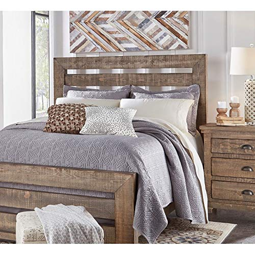 Progressive Furniture Willow 5/0 Queen Upholstered Headboard, Weathered Gray (Willow Furniture)