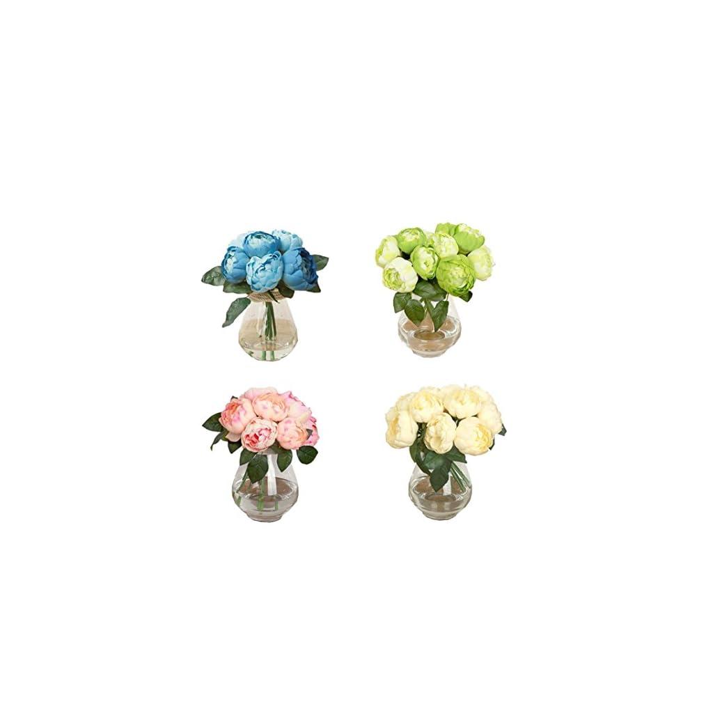 1-Bouquet-6-Heads-Artificial-Peony-Flower-Koolee-Silk-Simulation-Flower-Leaf-Home-Wedding-Party-Decor