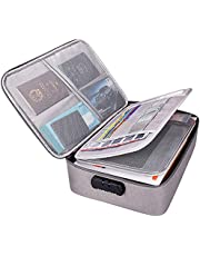KEJIH Oxford Waterproof and Shock-Proof Document Bag with Safe Code Lock, Multi-Layer Storage Pouch Credential Bag Diploma Storage Important Document and File Pocket with Separator