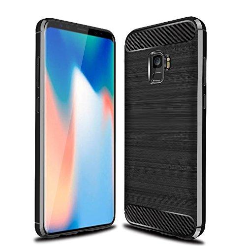 separation shoes c7143 d8e6e Galaxy S9 Case, S9 Case, Cruzerlite Carbon Fiber Shock Absorption Slim Case  for Samsung Galaxy S9 (Black)