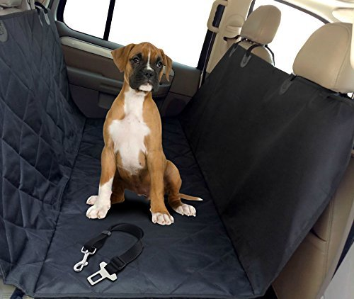 (My Pet Boutique Pet Seat Cover Hammock with Dog Seat Belt)