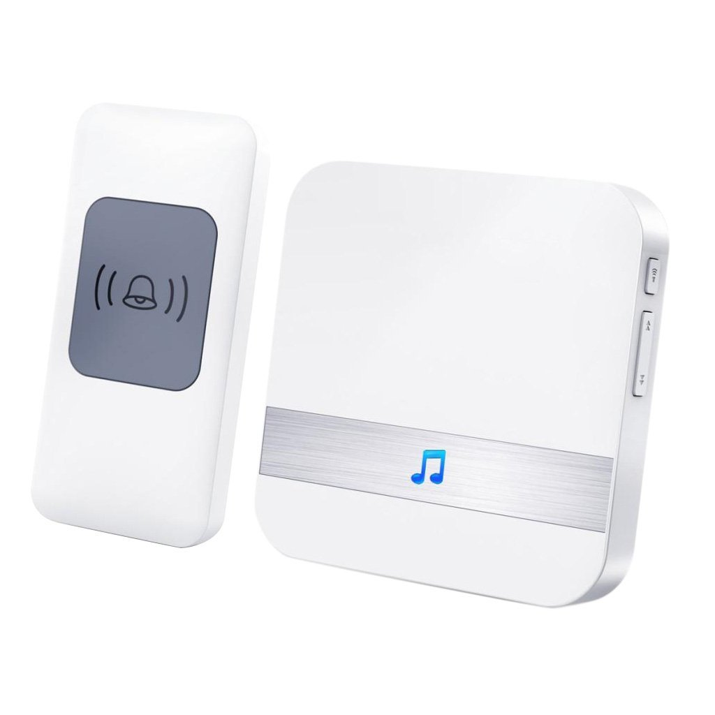 MagiDeal Smart Auto Welcome Wireless Door Bell Home Office Shop 52 Music Chimes US Plug-in, 200m Wide Range