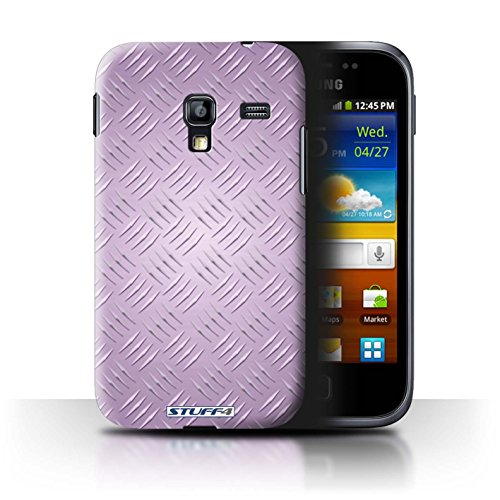 Coque de Stuff4 / Coque pour Samsung Galaxy Ace Plus/S7500 / Rose Design / Motif en Métal en Relief Collection