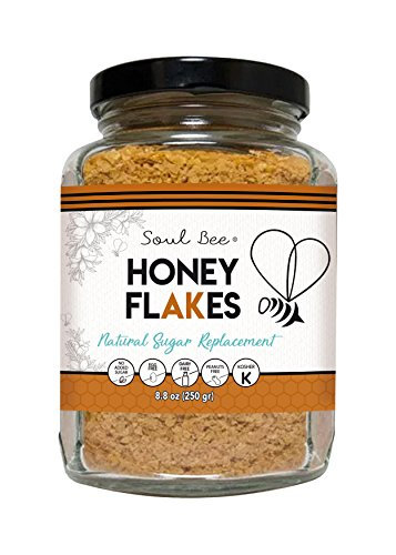 SoulBee HONEY FLAKES - 9 oz - Natural Crunchy Roasted Honey Taste - Low Calories (Dairy Free, Tree Nuts Free, No added Sugars, Kosher) - HONEY CEREAL