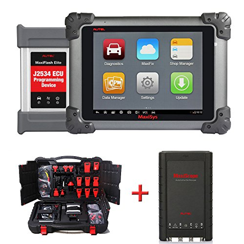 Autel MaxiSys Pro MS908P Car Diagnostic Scanner with ECU Coding and Programming - Automotive OBD2 Scanner with MaxiScope MP408 Diagnostic Oscilloscope
