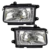 Driver and Passenger Headlights Headlamps Replacement for Isuzu Honda SUV 8-97205-901-0 8-97205-899-0
