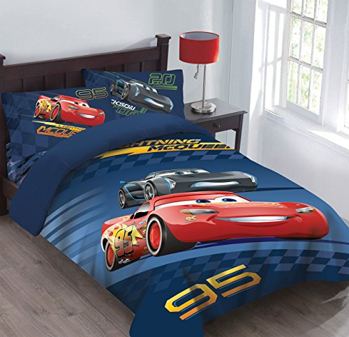 Disney Cars Velocity Twin Bedding Comforter Set ()